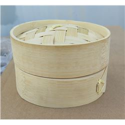 """Qty 100 Bamboo Steamers 2.5""""H x 3.5""""D"""
