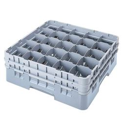 """Cambro 25S800151 Camrack 25 Compartment Glass Rack, 8 1/2"""" H"""