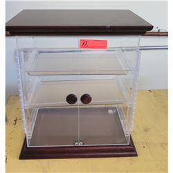Acrylic Food Display Case w/ 3 Removable Shelves