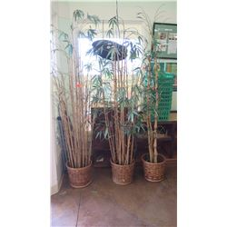 Tall Potted Artificial Bamboo Plants (Qty 3)