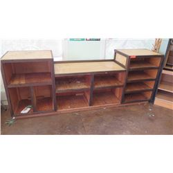 Large Wooden 11-Compartment Display Shelving Unit 25.5 x 19.5 x 37 H