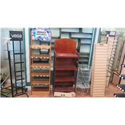 Wood/Metal Display Stands and Shelving Units, Mdse Display Panels