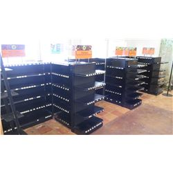 "Approx. 5 Madix Black Adjustable Retail Shelving Units (Modular/Adjustable) 55"" Tall, 27"" back and f"