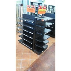 "Madix Black Adjustable Retail Shelving Unit 55"" Tall, 27"" back and front total depth"