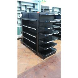 """Madix Black Adjustable Retail Shelving Unit 55"""" Tall, 27"""" back and front total depth"""