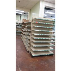 """Madix Off-White Adjustable Retail Shelving System (Entire Row, Approx. 227"""" L)"""