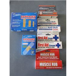Bundle of First Aid and more / Bandages / Creams / Great  value bundle