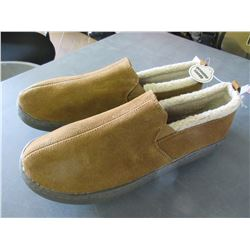 New Pair Mossimo Mens Slippers non marking sole/genuine suede size 11