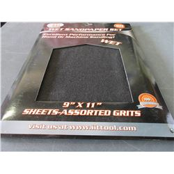 Case of 20 Wet Sandpaper set / 9 x 11 assorted grits60-100-150-240grit
