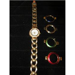 Ann Klein ll Diamond Watch with 4 extra color Bezels / # 10/4699