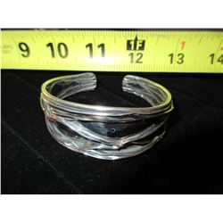 925 Silver West Coast  Bangle Bracelet /  22 GRAMS