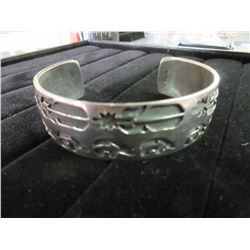 Sterling Silver West Coast Bangle Bracelet / 38 GRAMS