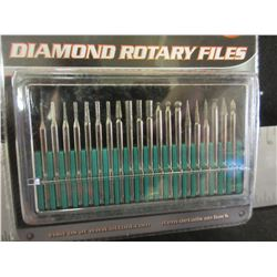 New Diamond Rotary Files 20 Piece Set with case / 1/8 collet