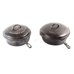 Wagner Cast Iron Skillet # 8 Set with Lids