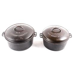 Wagner Cast Iron #8 & #9 Roasters