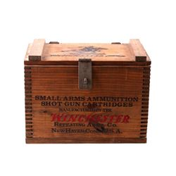 Winchester Shot Gun Cartridge Wooden Box