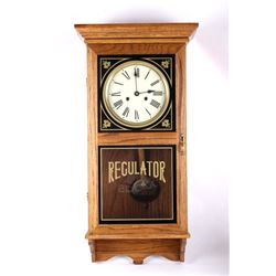 Antique Oak Cased Regulator Clock