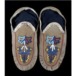 Cree Wonderfully Beaded Moccasins circa 1900