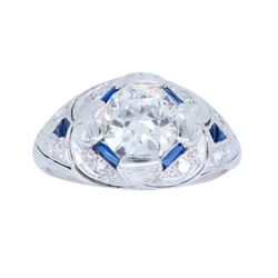 Platinum 1.14ctw Diamond Ring