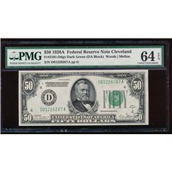 1928A $50 Cleveland Federal Reserve Note PMG 64EPQ