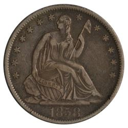 1858-O Seated Liberty Half Dollar Coin