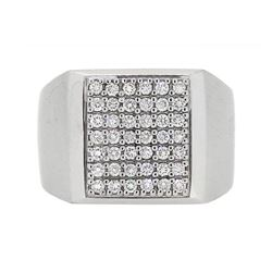 14KT White Gold 0.67ctw Diamond Ring