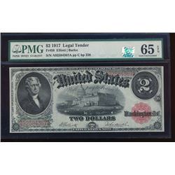 1917 $2 Legal Tender Note PMG 65EPQ