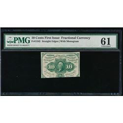 10 Cents First Issue Fractional Note PMG 61