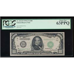 1934 $1000 Cleveland Federal Reserve Note PCGS 63PPQ