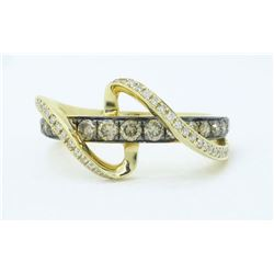 14KT Yellow Gold 0.57ctw Levian Diamond Ring