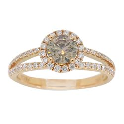18KT Rose Gold 0.80ctw Diamond Ring