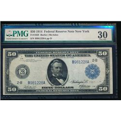 1914 $50 New York Federal Reserve Note PMG 30