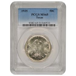 1935 Texas Commemorative Half Dollar Coin PCGS MS65