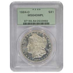 1884-O $1 Morgan Silver Dollar Coin MS64DMPL