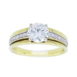 18KT Yellow Gold 0.98ctw Diamond Ring
