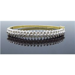 14KT Two Tone Gold 1.30ctw Diamond Bracelet