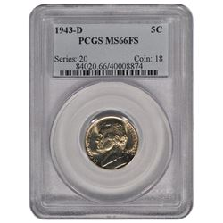 1943-D Jefferson Nickel PCGS MS66FS
