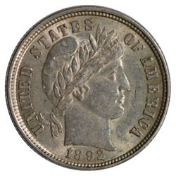 1892 Barber Dime Coin