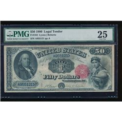 1880 $50 Legal Tender Note PMG 25