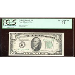 1934D $10 Dallas Federal Reserve Note PCGS 64