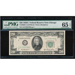 1950A $20 Chicago Federal Reserve Note PMG 65EPQ
