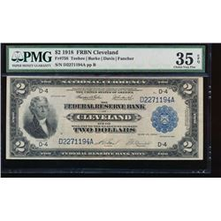 1918 $2 Cleveland Federal Reserve Bank Note PMG 35EPQ