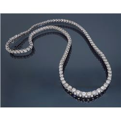 14KT White Gold 5.75ctw Diamond Necklace