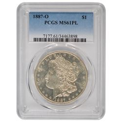 1887-O $1 Morgan Silver Dollar Coin PCGS MS61PL