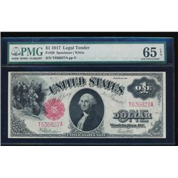 1917 $1 Legal Tender Note PMG 65EPQ