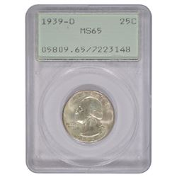 1939-D Washington Quarter PCGS MS65