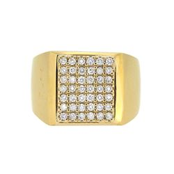 14KT Yellow Gold 0.67ctw Diamond Ring