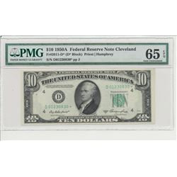 1950A $10 Cleveland Federal Reserve Star Note PMG 65EPQ