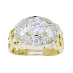 14KT Yellow Gold 1.43ctw Diamond Ring