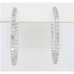18KT White Gold 1.18ctw Diamond Earrings